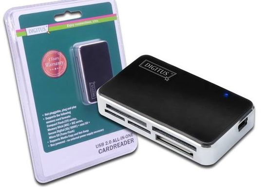 Cardreader,  USB 2.0.  All-in-one