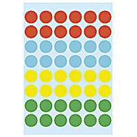 Self-adhesive labels HERMA multi-purpose,  ø12MM, 10 sheets ,1851 (10x240)