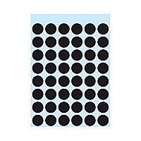 ELF ADHESIVE LABELS HERMA MULTI PURPOSE ø12MM 10 SHEETS BLACK