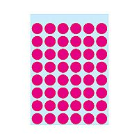 Self-adhesive labels HERMA multi-purpose,  ø12mm, 10 sheets, 1856 (10x240)
