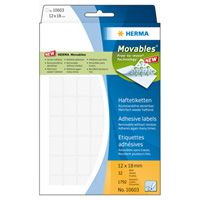 Self-adhesive labels HERMA movables , 1792 labels, 12mm x 18mm, 10603