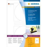 Cd labels A4 Ø116mm Herma maxi white (100 sheets)