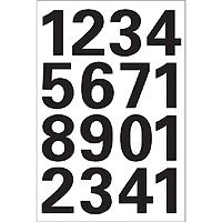 LABEL HERMA NUMBERS 0-9 SELF-ADHESIVE 25MM WEATHERPROOF FILM 1SHEET BLACK