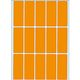 HERMA multi-purpose labels, luminous orange, 20 x 50 mm, 360 labels.
