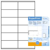 super print, label size, 105 x 48 mm, 500 sheets, 6000 labels, (500)
