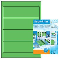 Self-adhesive label HERMA, 100 sheets, 192mm x 61mm, green, 4299