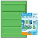HERMA Self-adhesive label HERMA, 100 sheets, 192mm x 61mm, green, 4299
