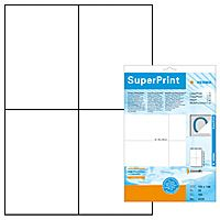 HERMA super print, label size, 105 x 148 mm, opaque, 25 sheets, white, 100 labels (100) (4229)