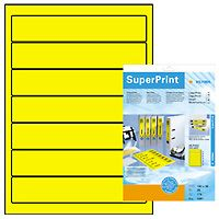 super print, label size, 192 x 38 mm, 20 sheets, yellow, 140 labels (20)