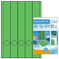 HERMA super print, label size, 38 x 297 mm, 20 sheets, green, 100 labels (20) (5134)