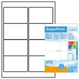 HERMA HERMA super print, label size, 96 X 63,5 mm, 25 sheet, glossy, white, 200 labels.