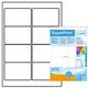 HERMA super print, label size, 96 X 63,5 mm, 25 sheet, glossy, white, 200 labels.