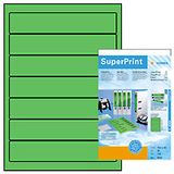 HERMA HERMA super print, label size, 192 x 38 mm, 20 sheets, green, 140 labels (20)
