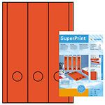super print, label size, 61 x 297 mm, 20 sheets, red, 60 labels (20)