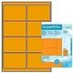HERMA Label 99,1x67,7 fluor orange, 160labels(25SH)