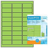 Labels Herma neon green 63, 5x29, 6mm 20sh of each 27 labels