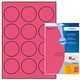 HERMA Labels Herma round Ø60mm neon-red A4 laser copycopy (20)
