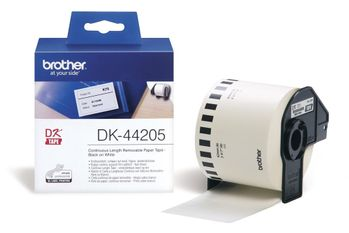 BROTHER labels 62mmx30, 48m removable white paper (DK-44205)