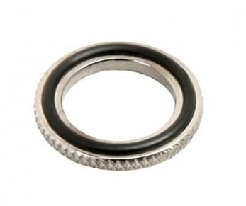 Distanzring 1/4 Zoll dünn - shiny black