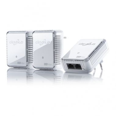 dLAN 500 Duo Network KitHigh transfer rate of up to 500 Mbps