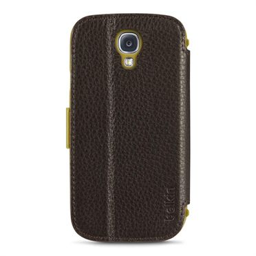 GALAXY S4 PREMIUM LEATHER FOLIO DARK BROWN                       IN ACCS