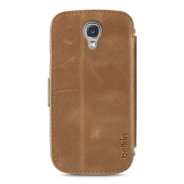 GALAXY S4 PREMIUM LEATHER FOLIO BROWN                            IN ACCS