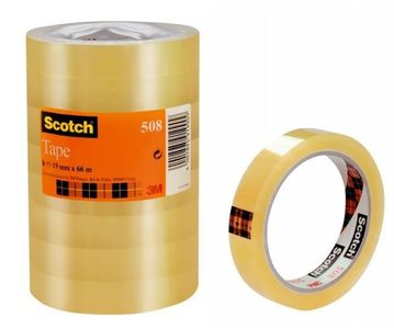 3M Tape Clear Scotch 508 66mX19mm (5081966*8)