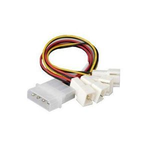 AKASA 4 pin PSU Molex to 4 * 3 pin fans (speed reduction on 2 fans) (AK-CB001)