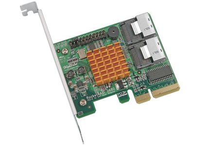 HIGHPOINT 8-ch PCI E x4 SAS SATA Raid Adapter, No cables (RR2680SGL)
