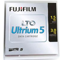 5 pieces LTO-5 data cartridge with random barcode label from Fuji 1500 GB native capacity