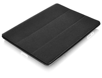 LUXA ELLIOT STAND CASE BLACK LEATHER STAND CASE FOR NEW IPAD ACCS (LHA0066)