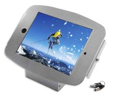 iPad Space Enclosure Kiosk Silver