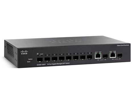 CSB SG 300-10 10-PORT GIGABIT MANAGED SFP SWITCH (8 SFP+2 COMB IN CPNT