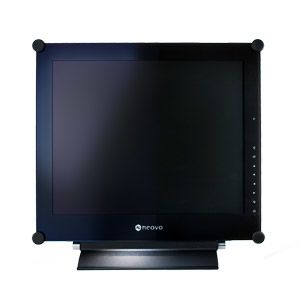 TFT Neovo 17'' X-17P 4:3, NeoV Glass, Metal Case, VGA, DVI, S-Video,  Svart, Speakers