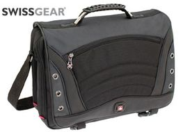SWISSGEAR SATURN MESSENGER BAG 17IN GREY NS