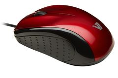 VIDEO SEVEN V7 MOUSE OPTICAL USB BLK/RED 3 BUTTON WHEEL 1000DPI BLISTER IN