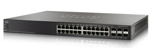 CISCO 24-Port Gig POE with 4-Port 10-Gig Stackable Managed Switch (SG500X-24P-K9-G5)