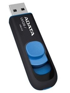 A-DATA 64GB USB Stick UV128 USB 3.0 black/ blue (AUV128-64G-RBE)