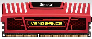 XMS3 1866MHz 8GB Vengeance™ CL9 Kit w/2x 4GB, CL9-9-9-24,  1.5V, Vengeance Red Heatspreader,  240 pin