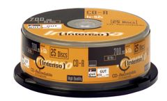 INTENSO 1x25 CD-R 80 / 700MB 52x Speed, Cakebox Spindel