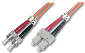 FIBER OPTIC PATCH CORD. ST-SC GR CABL