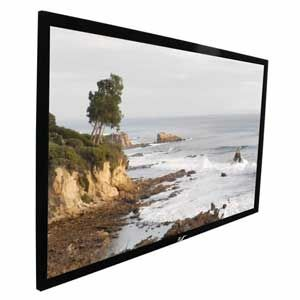 "Screens 150"" 16:9 Gain 1:1, 16:9, 344x199 cm, sort ramme"