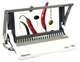 BINDING MACHINE FELLOWES STAR MANUAL A4 COMB BINDER