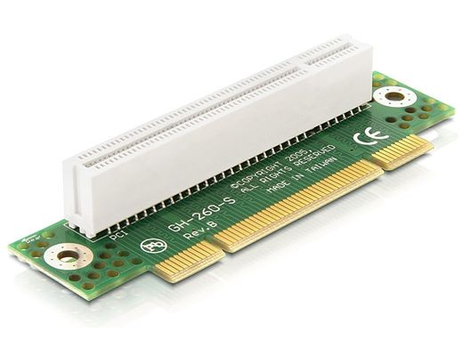Riser Card PCI 32 Bit 90° Angeled Left Insertion -