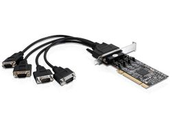 PCI Card 4x D-Sub9 RS-422/ 485 ext +LowProfi
