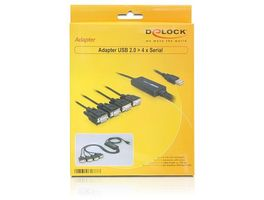 USB Adapter USB A -> 4x D-Sub9 RS-232 St/St