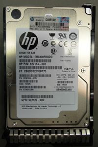 300GB hot-plug dual-port SAS hard disk drive - 15,000 RPM