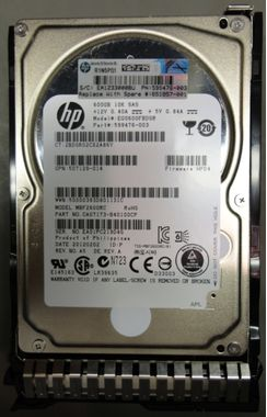 600GB hot-plug dual-port SAS hard drive - 10,000 RPM