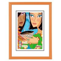 Madrid Orange         15x20 Plastic Frame              31724
