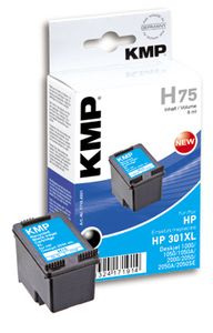 KMP H75 ink cartridge black compatible with HP CH 563 EE (1719,4001)